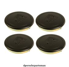 Porsche 911 / 912 E / 944 / 930 Hub Cap for Alloy Wheel - Black (4) NEW #NS