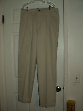 DOCKERS~KHAKI~PLEATED FRONT~36X32~EUC~COTTON~YOU'LL LOVE THE DOCKERS FIT!