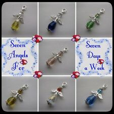 **** SEVEN GUARDIAN ANGELS FOR 7 DAYS A WEEK****  (CHARM CLIPS)