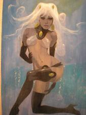 MIKE HOFFMAN Original Art, SQUID GIRL Submerge, 2008, NM+, 16x20 on board