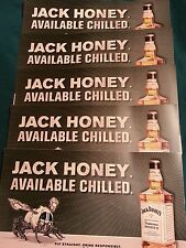Jack daniels honey window clings set of 5.  6 by 11 inch