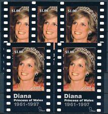 [338] Liberia 1997 Lady Diana 5x good Sheet very fine MNH