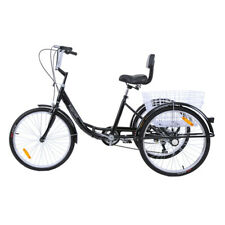 """Tricycle pour adultes 7Speed 24 """"3 roues Senior shopping bike avec panier steel"""