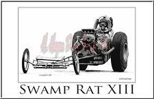 """Drag Racing Art Print of Swap Rat XIII 13"""" x 19"""""""