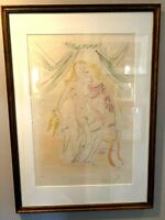 Salvador Dali Venus, Mars et Cupidon Original Colored Etching 1971 Artist Proof