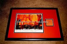 Christo Jeanne Claude Hand Signed Framed Display  Autographed The Gates