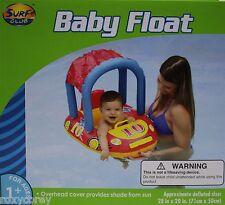 Surf Club Blue Red & Yellow Baby Float Car Overhead Sun Shade 28x20 NIB