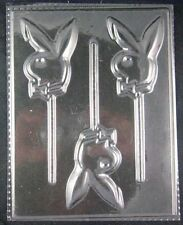Bunny with Bow Tie Clear Lollipop Chocolate Candy Mold 257 NEW