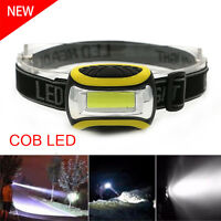 Super Bright 1000LM Waterproof COB LED 3Modes Headlamp Headlight AAA Flashlight