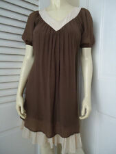 Areve Ryu Anthropologie Dress S Peasant Hippie Boho Rayon Poly Pullover