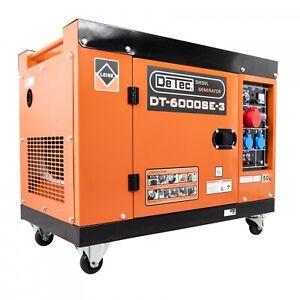 DeTec. 3-Phasen Diesel Stromgenerator Stromerzeuger 5500W DT-6000SE-3 230V/400V