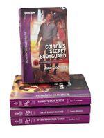 Harlequin Lot of 4 books romantic suspense Romance 2019 paperbacks series
