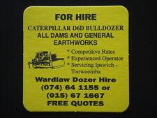 WARDLAW DOZER HIRE CATERPILLAR D6D BULLDOZER IPSWICH TWMBA 074 641155 COASTER