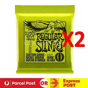 2X For Ernie Ball 2221 Regular Slinky 10-46 Electric Guitar Strings Parts AU