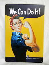 Enamel Wall Plaque - Rosie the Riveter - We Can Do It - Wartime Repro - BNIB