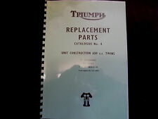 TRIUMPH  6T TR6 T120 BONNEVILLE PARTS BOOK MANUAL No.4 1966 - TP33 954/65