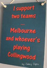 Melbourne versus Collingwood Football Sign Bar Pub Shed Man Cave Demons Signs