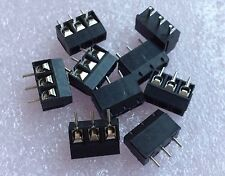 New Black 3 Pin 5.0mm Pitch Screw Terminal Block Connector KF-301-3P 20PCS
