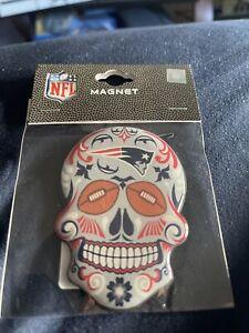 New England Patriots Sugar Skull Magnet NFL