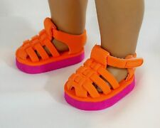 DOLL SHOES For American Girl Doll Foam Sandals, Very Cute Accessories / Clothing