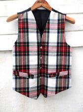 """Mens' Clan Alba Scottish Royal Stewart Tartan Waistcoat 34-36"""" Red White Green"""