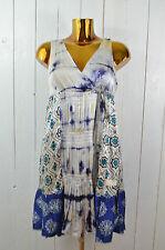 Odd Molly vestido vestido de seda percha seda batik multicolor azul oscuro Ecru talla 1/36