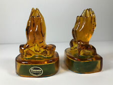 Vintage Pair (x2) Kanawha Amber Glass glassware Bookends