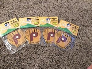 ~ PHILADELPHIA PHILLIES ~ VINTAGE Air Fresheners Sealed Lot Of 4 Early 90's
