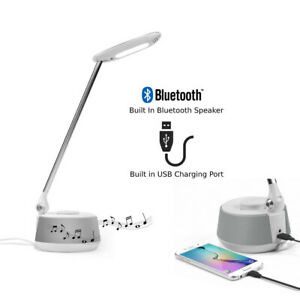 Bluetooth Speaker Lamp with USB Charging Port - Perfect for Bedside Table LEC630