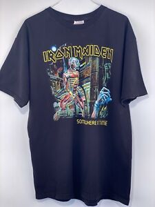 Vintage 2003 Iron Maiden Somewhere In Time Band Concert Tour Shirt Adult Size L
