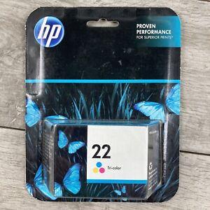 HP 22 Tri-color Ink Cartridge New Sealed Genuine EXP 3-2016