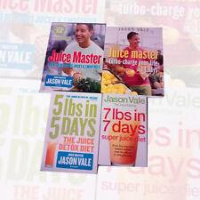 Jason Vale Collection 4 Books Set (The Juice Detox Diet) Paperback Brand New