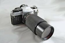 Canon AE-1 Program 35mm SLR Camera with 70-210mm 1:3.9 MC Zoom Lens * Tested!