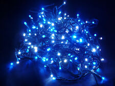 16M 160 LED 8-Function BLUE String Fairy Lights (GREEN-CABLES) Party Xmas Tree