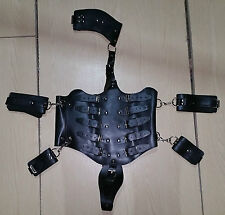 Full Body restraint Costume with wrist and Thigh Cuffs, uk,gimp,fancy dress.