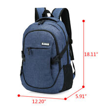 Anti-theft Mens Laptop Backpack Travel School Bag Rucksack With USB Charger Port