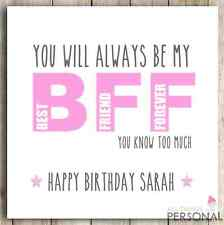 PERSONALISED Handmade BFF, Best Friends, Best Friend, Bestie Birthday Card