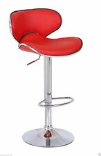Red Studio Casino Kitchen Bar Stool Faux Leather Breakfast High Chair Seat