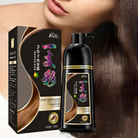 500ml Permanent Hair Color Shampoo Natural Organic Coloring Dye for Men Women