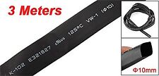 NEW 10mm Black Polyolefin Insulation Heat Shrink Tubing 3 Meters 9.8ft