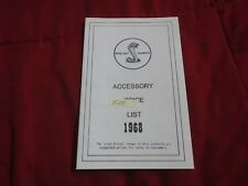 1968 FORD MUSTANG SHELBY GT350 GT500 GT500KR COBRA ACCESSORY PRICE LIST BOOKLET