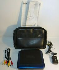 """New listing Rca 8"""" Inch Portable Dvd Player With Chargers Tested And Works With Bag And More"""