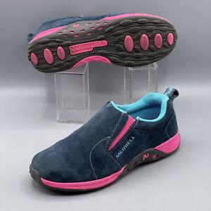 Merrell Jungle Moc Nubuck Suede Sneaker Slip-On Shoe US Women 6.5 Youth 5 EUR 36