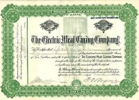 The Electric Meat Curing Company > 1908 Maine old stock certificate share