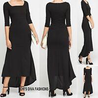 Gorgeous Dip Hem Bodycon Maxi Dress Sizes 8, 10, 12