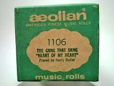 PREMIUM VINTAGE PLAYER PIANO MUSIC ROLL AEOLIAN - 1106 THE GANG THAT SANG   a