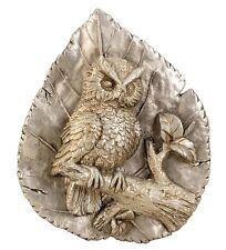 escultura moderna dekoblatt con búho hecho de cerámica en plata / ORO altura