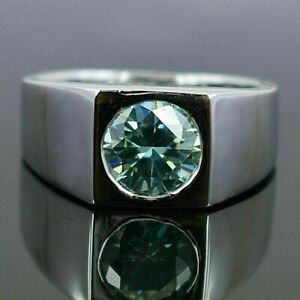 Blue Diamond Ring. 2 carat Certified & Earth mined. Excellent cut & Luster!