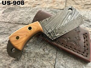 AMERICANO CUTLERY HANDMADE DAMASCUS HUNTING FULL TANG CLEAVER KNIFE - US-908