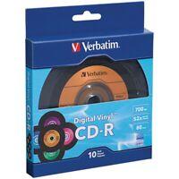 Verbatim 97935 700MB 80-Minute Digital Vinyl CD-Rs (10 pk), Pack of 1